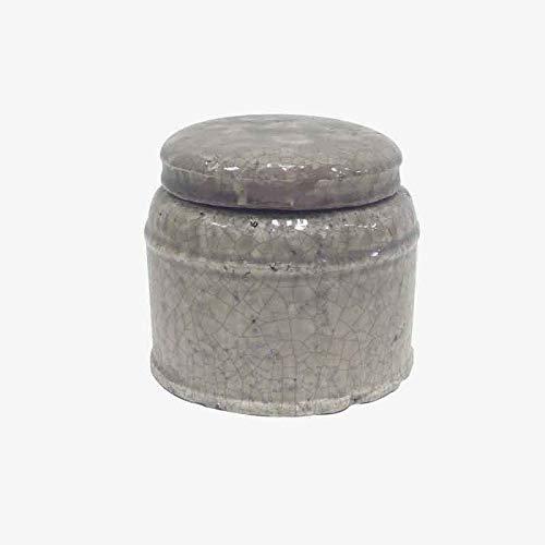 Better & Best Pñ Pot Large avec Grand Couvercle, Motif Taupe craquelé (1103), Dimensions 16 x 16 x 14 cm, matériau : Terre Cuite