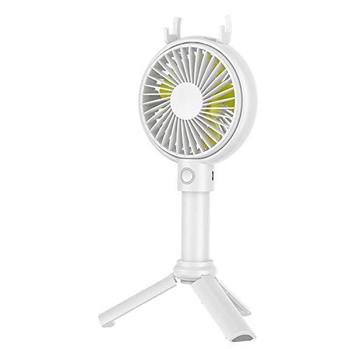 Mini ventilador de escritorio portátil ventilador Mini ventilador USB de carga Soporte triangular Ventilador de verano 3 engranajes Ventilador eléctrico de viento Ventiladores personales al aire libre