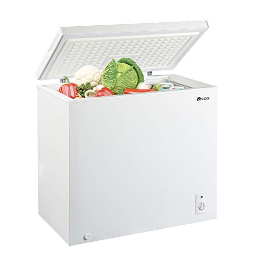 KEG 7.0 Cubic Feet Top Chest Freezer with Adjustable Thermostat and Removable Storage Basket, Freezing Machine for Home and Kitchen (7 cu ft)