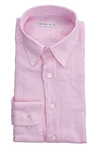 Etro Shirt IN Pink Linen, Hombre.