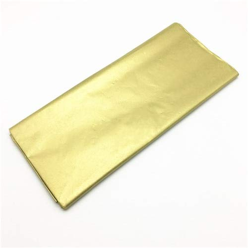 yuge 10 Piezas de Papel de Envoltura de Tejidos de Color Papel Artesanal Envoltura de Rollos Camisa de Vino Papeles de Ropa Material de Embalaje de Tejido Dorado
