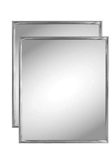 Kole Imports Silver Trim Wall Mirror (2 Pack)