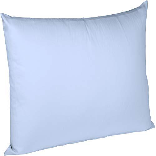fleuresse Interlock-Jersey-Kissenbezug Uni Colours bleu 6056 Größe 80 x 80 cm