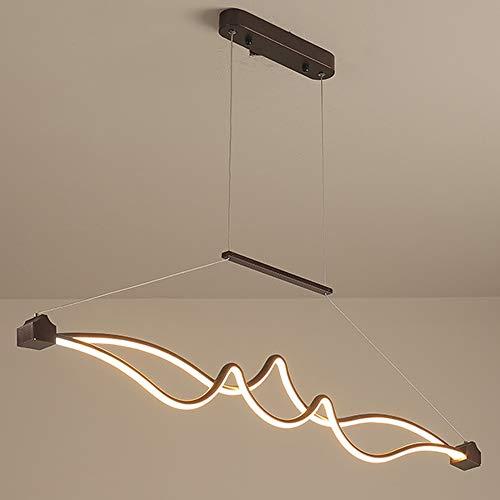 24W suspension lumière LED rectangulaire lustres dimmable, Moderne salle à manger lampe suspendue, suspension luminaire chambre à coucher, lamp de salon, salle de séjour suspension lamp L115cm, 1680LM