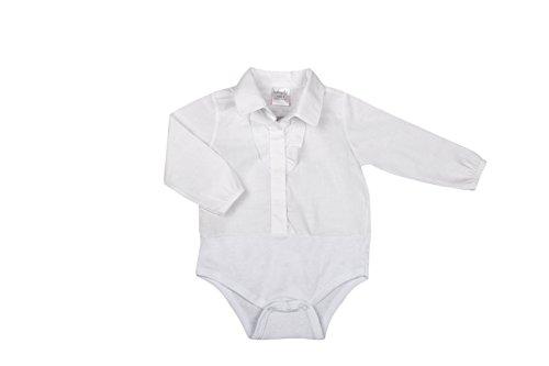 BabyVip - Tutina Body per Bambino e Bambina, Modello Classico A Manica Lunga, 100% Cotone, Bottoni Automatici