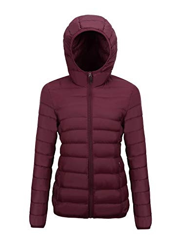 Mofavor Women's Outdoor Windbreaker Lightweight Jacket Short Coat with Hooded