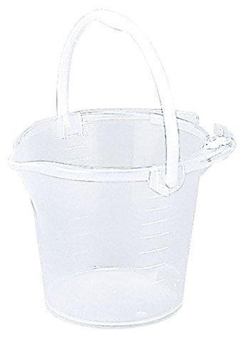 トンボ 便利バケツ 透明 目盛り付 10型 洗車や園芸作業にも便利なバケツ