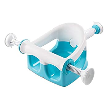 Summer My Bath Seat  Aqua  - Baby Bathtub Seat for Sit-Up Bathing Provides Backrest Support and Suction Cups for Stability - This Baby Bathtub is Easy to Set-Up Remove and Store