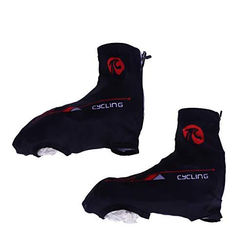 LIOOBO 1 par de Fundas de Zapatos de Ciclismo Impermeables cubrezapatos Cortavientos para Hombre y Mujer Nero e Rosso L