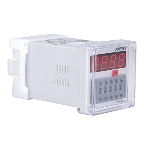 Contador de LED relé, contador digital resistente a impactos Display de LED para comunicação para controle remoto para controle automático para mecatrônica(220VAC)