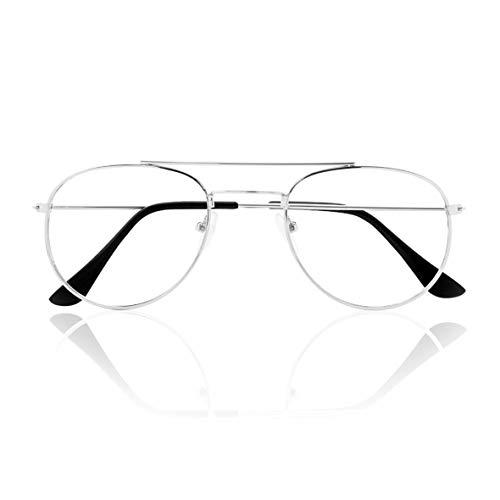Prontoleggo Occhiali Da Lettura Prontoleggo Mod. Aviator Argento Diottria +3,50-180 g