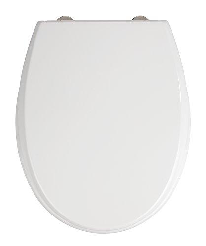 Wenko WC-bril Furlo, toiletbril met softclose, WC-deksel met Fix-Clip hygiënische bevestiging, Duroplast, wit