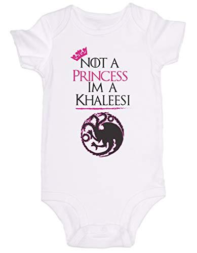 Mono de bebé de Promini - Not a Princess Im A Khaleesi Juego de Tronos - Body de bebé lindo mono de una pieza el mejor regalo para bebé
