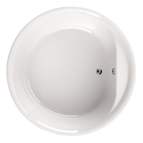 'aquaSu® Acryl - Badewanne elO I Ø 160 cm I Weiß I Wanne I Badewanne I Bad I Badezimmer