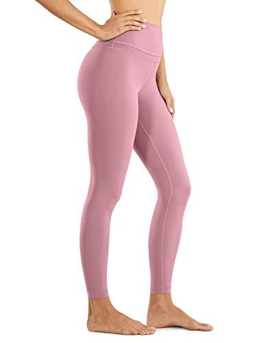 CRZ YOGA Damen Nackte Empfindung Hohe Taille Joggen Yoga Leggings mit Tasche-71cm Feige 44