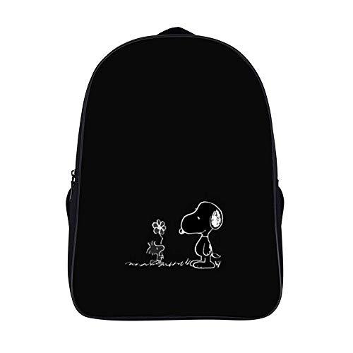 Süßer Snoopy Rucksack mit zwei Fächern für Studenten, Schultasche, Business, Tagesrucksack, Reiserucksack für Herren, Damen, Teenager, Schule, Universität, 40,6 cm