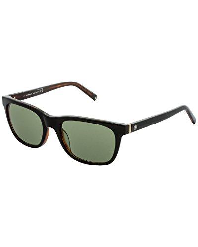 Montblanc MB507S C53 01N (shiny black / green) Polarisierende Sonnenbrillen