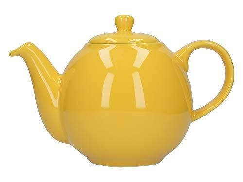 Tetera con colador, de London Pottery Globe, ceramica, Amarillo, 4 Cup (900 ml)