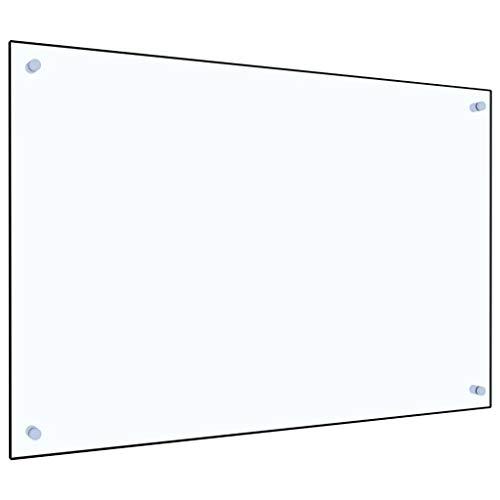 vidaXL Küchenrückwand Spritzschutz Fliesenspiegel Glasplatte Rückwand Herdspritzschutz Wandschutz Herd Küche Transparent 90x60cm Hartglas