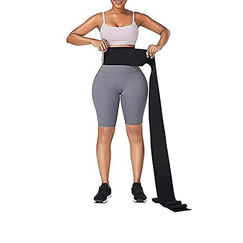 Snatch Me Up Wrap Bandage   Adjust Your Snatch Waist Trimmer   Tummy Wrap Sweat Wraps Waist Trimmer Belt For Women I Belly Body Shaper Compression Wrap I Gym Accessories Black…