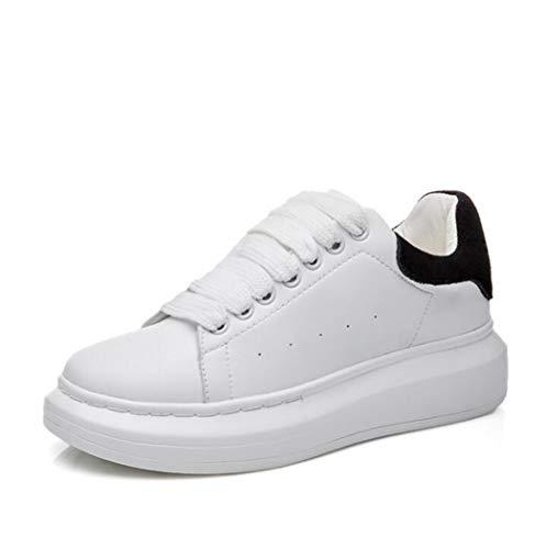 Dames Witte Creepers Schoenen Ronde Neus Veters Platform Sneakers Casual Lage Ademende Flats Hardlopen Wandelen Dikke Sneakers