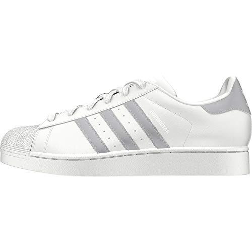adidas Damen Superstar Sneaker, Weiß (Weiß/Grau Weiß/Grau), 38 EU