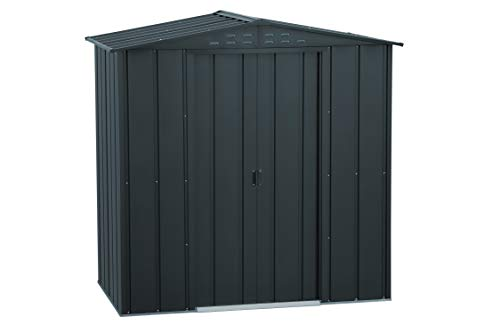 Duramax Top Shed 6' x 4' Metal Outdoor Garden Storage Shed, Made of Hot-Dipped Galvanized Steel, Strong Reinforced Roof Structure, Maintenance-Free & Weatherproof Metal Garden Shed, All Anthracite