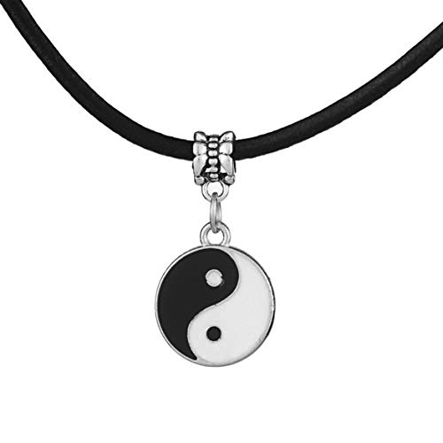 Vintage Style Fashion and Simple Men's Yin and Yang Pendant Tai Chi Necklace Trendy Decoration for Lovers Unisex