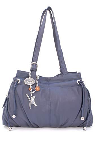 CATWALK COLLECTION - ALICE - Bolso de hombro - Cuero - Oscuro Azul