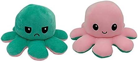 Incor Kinderspielzeug Geschenk Plüschtiere niedlich kleine Octopus Toy Doppelseitiges Flip-Plüschtier Süße Wendepuppe...