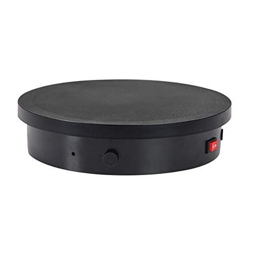 SSHHM 360° Plataforma Rotatoria,Botón Base Giratoria Eléctrica Velocidad Regulable,Para xhibición de fotografía...