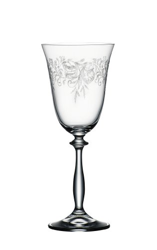Bohemia Cristal 093 006 013 Weingläser ca. 250 ml aus Kristallglas 6er Set