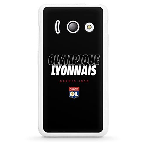DeinDesign Silikon Hülle kompatibel mit Huawei Ascend Y300 Hülle weiß Handyhülle Fußball Olympique Lyon Offizielles Lizenzprodukt