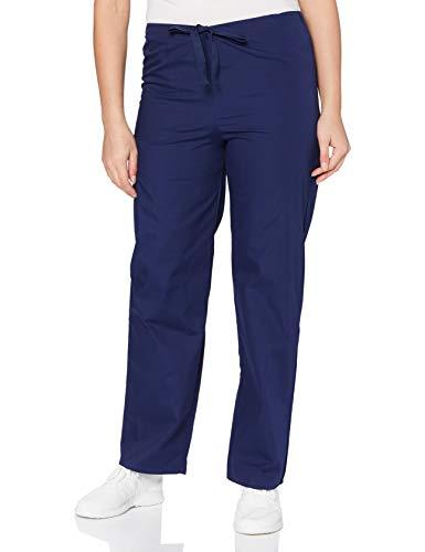 Adar Universal Pantaloni Medico Unisex - Pantaloni Affusolati con Cordoncino - 504 - Navy - S