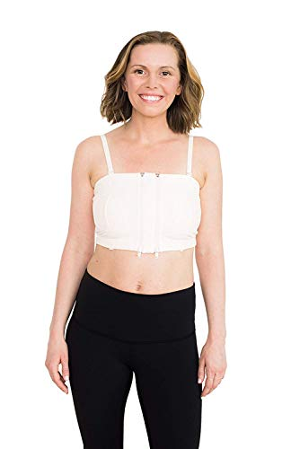 Simple Wishes Signature Hands Free Pumping Bra, USA Company, Comfortable, Adjustable, Supportive, Soft Pink, X-Small/Large