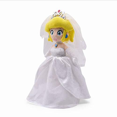 lili-nice Bowser Peach Soft Peluches Anime Odyssey Bowser Wear Uniforme Blanco Peluches De Peluche para Niños Cumpleaños Juguete 32Cm