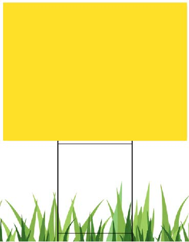 10 Yellow Signs 18''x24'', Flute 18 Inch & 10 Double H-Frame 10''x24'' Metal Stakes Great for Advertising Advertising Any Out Door Events, Open House, Garage Sale, Election Signs (10Sign18x24Stake24)
