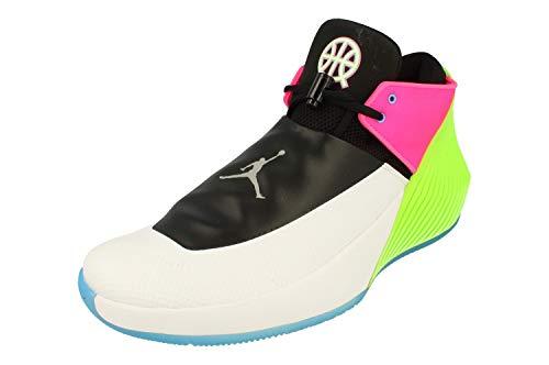 Nike Air Jordan Why Not Zero.1 Low Q54 Uomo Hi Top Basketball Trainers AT9190 Sneakers Scarpe (UK 11 US 12 EU 46, White Metallic Silver Black 100)