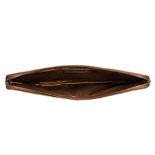 STILORD 'Wilson' Laptop Tasche 13,3 Zoll Leder für MacBook Vintage Notebooktasche für 13 bis 14 Zoll MacBooktasche Tablettasche Konferenzmappe DIN A4 Echtleder, Farbe:mittel - braun