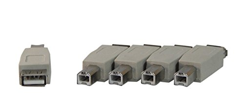 Your Cable Store USB Gender Changer. Female A to Male B 5 Pack