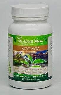 Moringa Oleifera Leaf Organic Capsules 400mg 120 Ct Vegan Fresh Grown in America Natural Raw Herb Super Food Energy Booster
