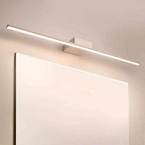 WLP-WF Halterung Lichtspiegel Frontlicht Led Wandleuchte Weiß Flutlicht Badezimmerspiegel Schrank Make-Up,Flachrohr-80Cm,Flachrohr-80Cm