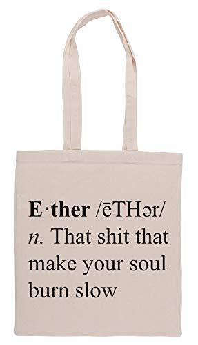 Luxogo Ether Definition Einkaufstasche Groceries Beige Shopping Bag