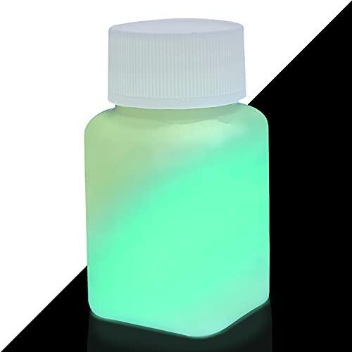 Excellente couleur lumineuse - Peinture phosphorescente très lumineux, Peinture lumineuse, Couleur professionnelle, lumière noire UV (aluminate de strontium   Non toxique   ultra résistant) (100 ml, Vert-Jaune)