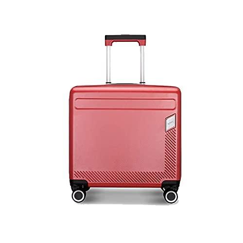 QIXIAOCYB Maleta portátil/equipaje recargable Rueda universal pequeña ligera de 18 pulgadas Carro de embarque de negocio/código de materia: LWH-107 (color: plata) (color: rojo)