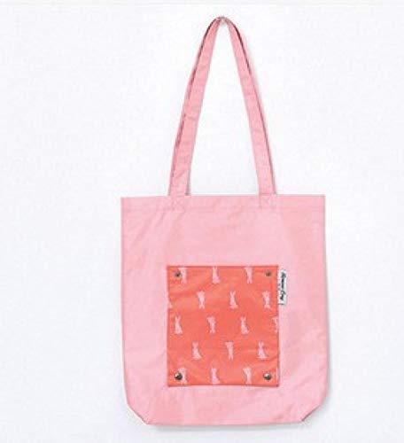 Boodschappentas duurzame reisopslag non-woven schoudertas herbruikbare dames handtas opbergtas-rose rood