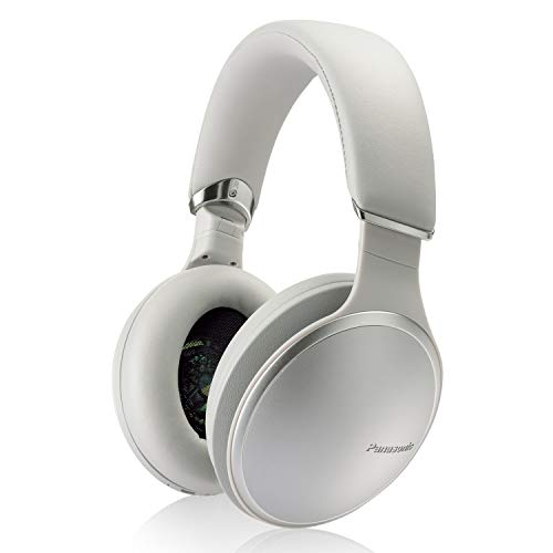 Panasonic Noise Cancelling Over The Ear Headphones with Wireless Bluetooth, Alexa Voice Control & Other Assistants – Silver (RP-HD805N-S), One Size Fits All