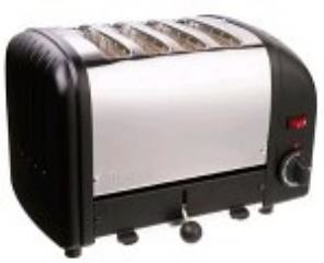 Dualit Edelstahl-Toaster, 4 Scheiben Schwarz