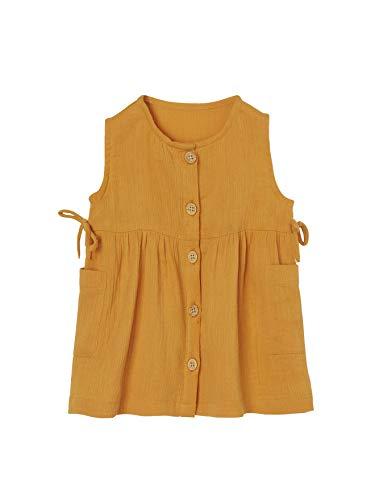 Vertbaudet Baby Mädchen Kleid mit Taschen orange 68