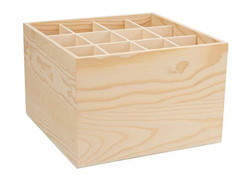VBS Schreibtischorganizer mit 12 Fächer 18x18x10 cm Stiftablage Stifte-Halter Schreibtischordnung Sortierablage Kindergarten Schule Künstler